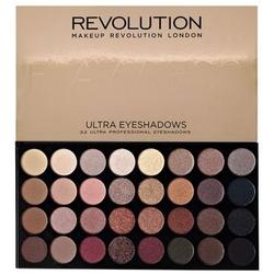 Makeup revolution 32 ultra eyeshadows flawless, paleta matowych cieni do powiek