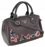 Torebka kuferek w kwiaty david jones szary - kuferki