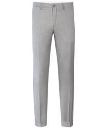 Szare spodnie z wełny i bawełny 50
