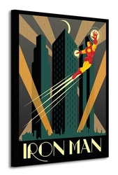 Marvel deco iron man - obraz na płótnie