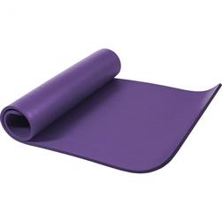 Mata do ćwiczeń fitness jogi duża 190x100x1,5cm antypoślizgowa fioletowa