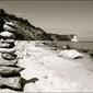 Kamienie na plaży - plakat wymiar do wyboru: 50x40 cm