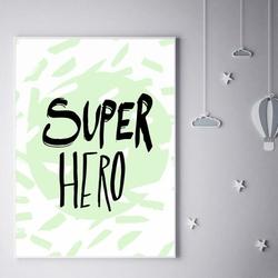 Super bohater miętowy - plakat wymiar do wyboru: 40x50 cm