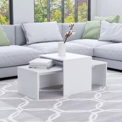 Vidaxl stolik kawowy, biały, 100x48x40 cm, płyta wiórowa