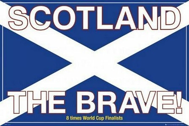 Szkocja the brave - plakat