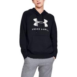Bluza damska under armour rival fleece sportstyle graphic hoodie - czarny
