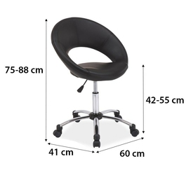 Fotel obrotowy dora czarny ekoskóra