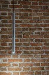 Loftlight :: lampa wisząca kalla inox szara wys. 73 cm
