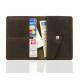 Skórzany portfel slim wallet brodrene sw08 ciemny brąz