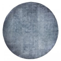 Carpet decor :: dywan linen dark blue round