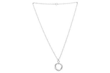 Modny srebrny naszyjnik koła