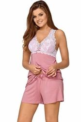 Piżama damska babella joanna pastelowy róż