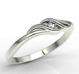 Pierścionek zaręczynowy z białego złota z brylantem lp-9304b - białe złoto z brylantem 0,04 ct