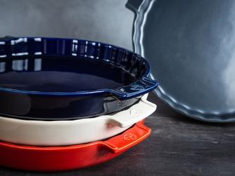 Forma ceramiczna do tarty, emaliowana 30 cm peugeot appolia niebieskia pg-60374