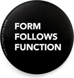 Przypinka czarna badge form follows function