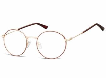 Lenonki okrągłe okulary oprawki optyczne 919 złoto-bordowe