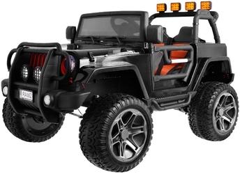 Monster jeep 4x4 czarny samochód na akumulator dwuosobowy + plecak