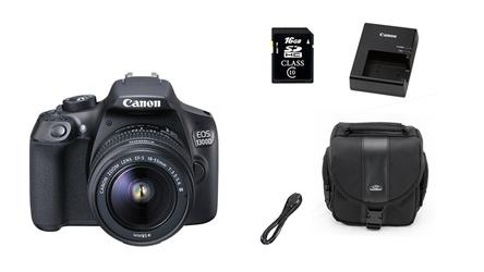 Lustrzanka Canon EOS 1300D+18-55mm III + TORBA + 16GB
