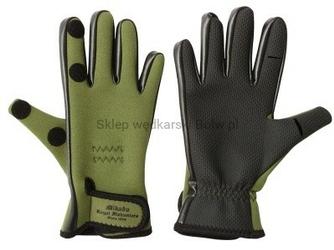 Rękawiczki wędkarskie neoprenowe rozm. L ze ściągaczem
