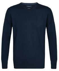 Elegancki granatowy sweter prufuomo z wełny merynosów s