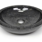 Umywalka marmurowa kamienna okrągła czarna umywalki nablatowe