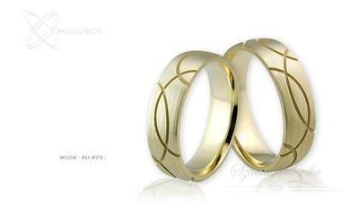 Obrączki ślubne - wzór au-473