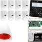 Zestaw alarmowy satel integra 128-wrl manipulator sensoryczny int-ksg-bsb 9x czujka lc-100 sygnalizator zewnetrzny spl-5010 r powiadomienie gsm