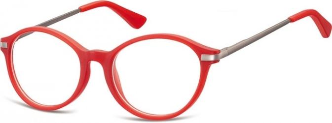 Okulary dziecięce zerówki okrągłe lenonki ak50c burgundowe