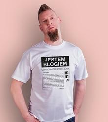 Jestem blogiem t-shirt męski biały xxl