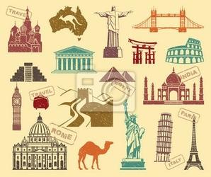 Obraz symbole podróży