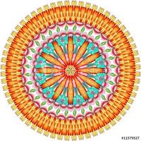 Obraz na płótnie canvas czteroczęściowy tetraptyk mandala