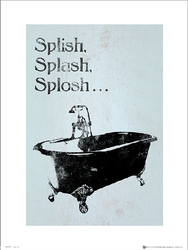 Bathroom Splish Splash Splosh - plakat premium