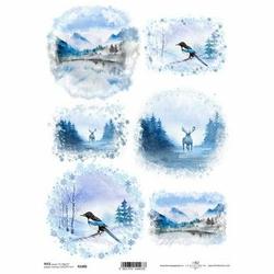 Papier ryżowy ITD A4 R1486 Zima
