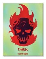 Suicide squad diablo skull - obraz na płótnie