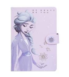 Frozen 2 lilac snow notes skórzany a5 z zapięciem