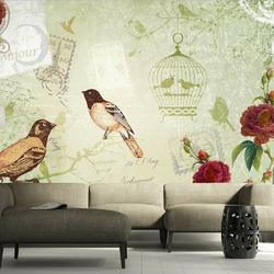 Fototapeta - vintage birds