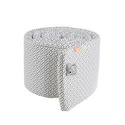 Ochraniacz do łóżeczka dots 350cm - biały wzór