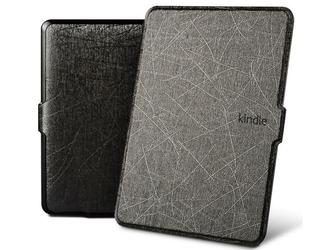 Etui alogy leather smart case do kindle paperwhite 123 czarne - czarny