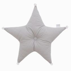 Poduszka dekoracyjna gwiazda - szara