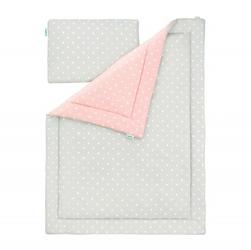 Pościel 100 x 135 - Lovely Dots Pink  Grey