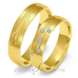 Obrączki ślubne złoty skorpion – wzór au-o137