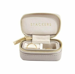 Pudełko podróżne na biżuterię Travel Mini Stackers taupe