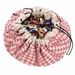 Worek na zabawki playgo - różowe romby