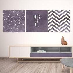 This is it - komplet trzech obrazów na płótnie , wymiary - 100cm x 100cm 3 sztuki