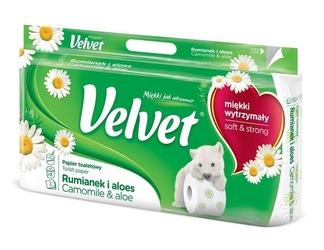 Velvet rumianek, zapachowy papier toaletowy, 3 warstwy, 8 rolek