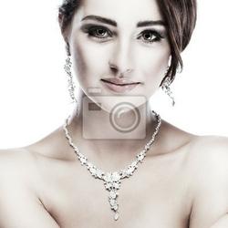 Fototapeta portret dziewczyna jest w stylu mody. dekoracja ślubna
