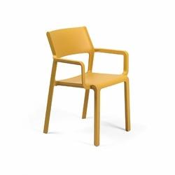 Krzesło trill z podłokietnikami żółte - żółty