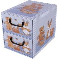 Pudełko misie niebieskie 2 szufladki
