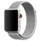 Pasek nylonowy alogy do apple watch 123456se 4244mm szary