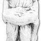 Figura ogrodowa betonowa dziewczynka z koszykiem 120cm